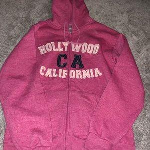 ***worn once*** california zip up hoodie